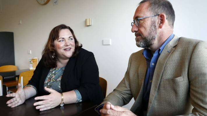 Nelson MP Rachel Boyack, pictured with Health Minister Andrew Little, says she is supportive of adding fluoride to water supplies.