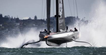 INEOS Team UK had Britannia smoking against Luna Rossa.