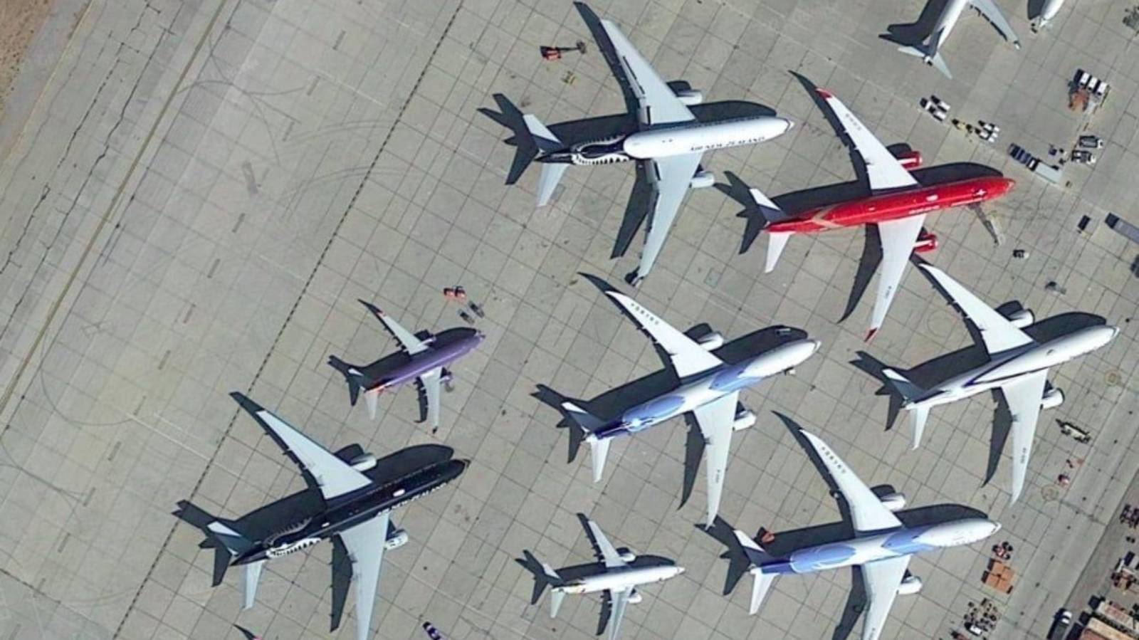 What packed plane 'boneyards' mean for the future of air travel