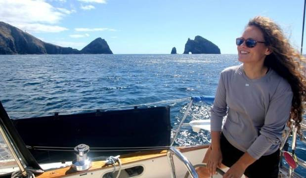 Round-the-world solo sailor Elana Connor steers clear of her fears