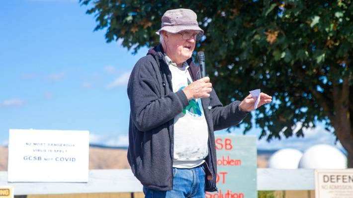 Protest organiser Murray Horton vows to fill the silence over the GCSB.