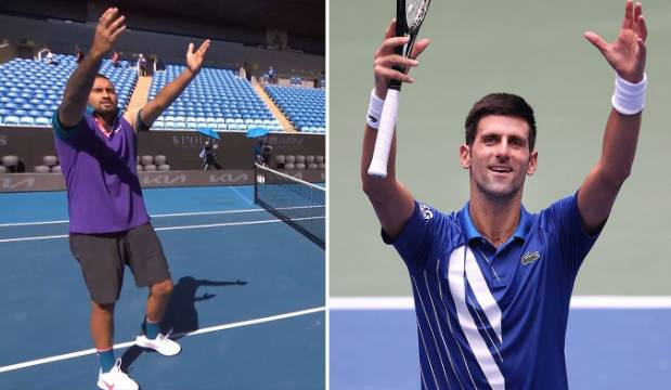'I don't like him at all': Nick Kyrgios taunts Novak Djokovic with celebration at Australian Open