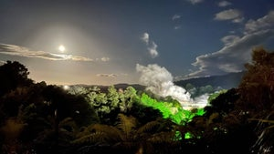 Darkness lets you see Te Puia's geysers in a new light