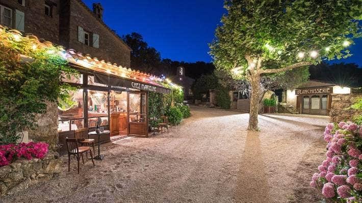 The village has a private restaurant – Chez Marceline.