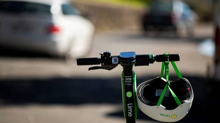 A man has been charged with careless use of a vehicle after allegedly colliding with a pedestrian while using a Lime scooter (file photo).