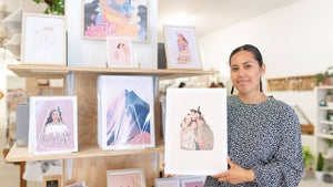 From sky to sketches: Former flight attendant finds new path in art
