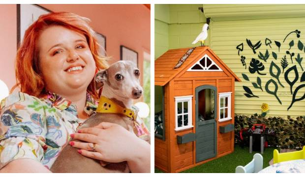 Evie Kemp leads amazing garage makeover at women's refuge