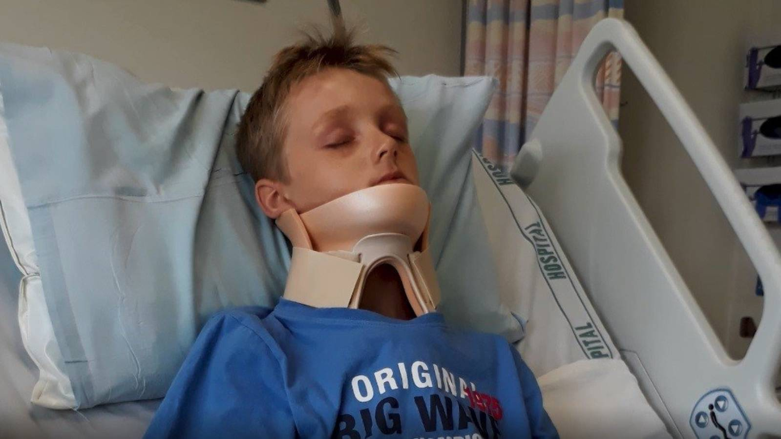 How one boy broke his neck trampolining