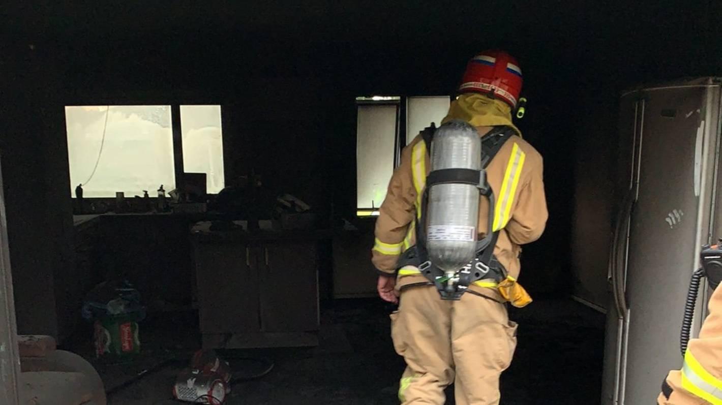 Wet carpet saves the day for tenants in burning Coromandel flat