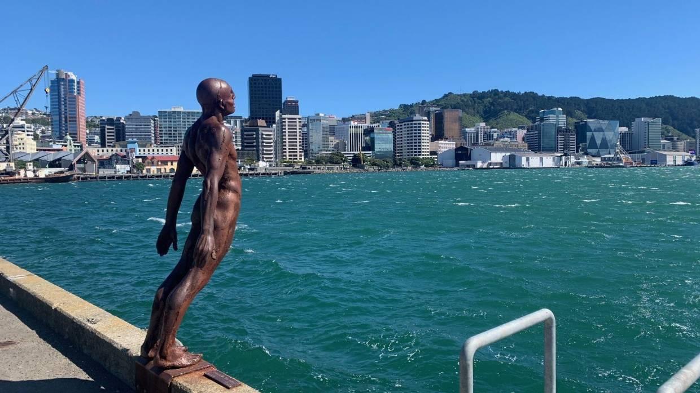 Pelabuhan Wellington terlihat seperti biasa pada Jumat (5/3/2021) siang
