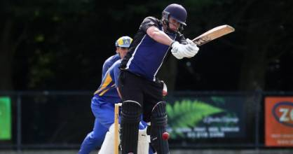 Invercargill-Old Boys opener Brayden Thomas on his way to scoring a half-century against Appleby in Southland club ...