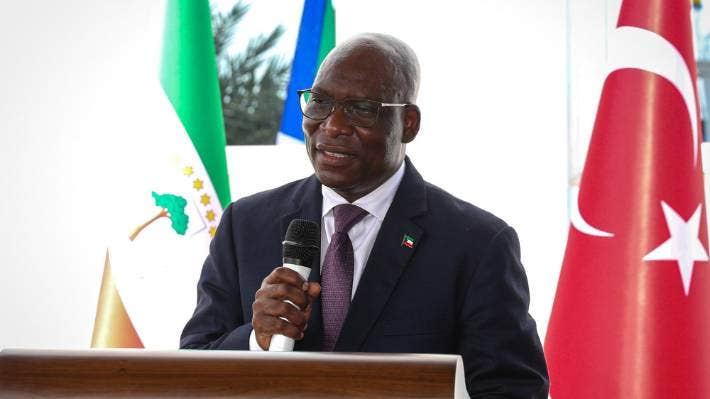 Equatorial Guinea Foreign Minister Simeon Oyono Esono Angue.