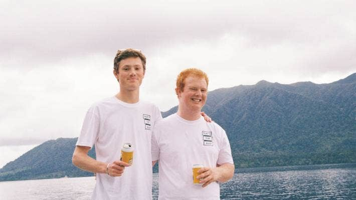 Edward Eaton, 23, left, and Wilbur Morrison, 22, are the two young minds behind The Buzz Club – a business making a modern day mead, a form of alcohol made from honey.