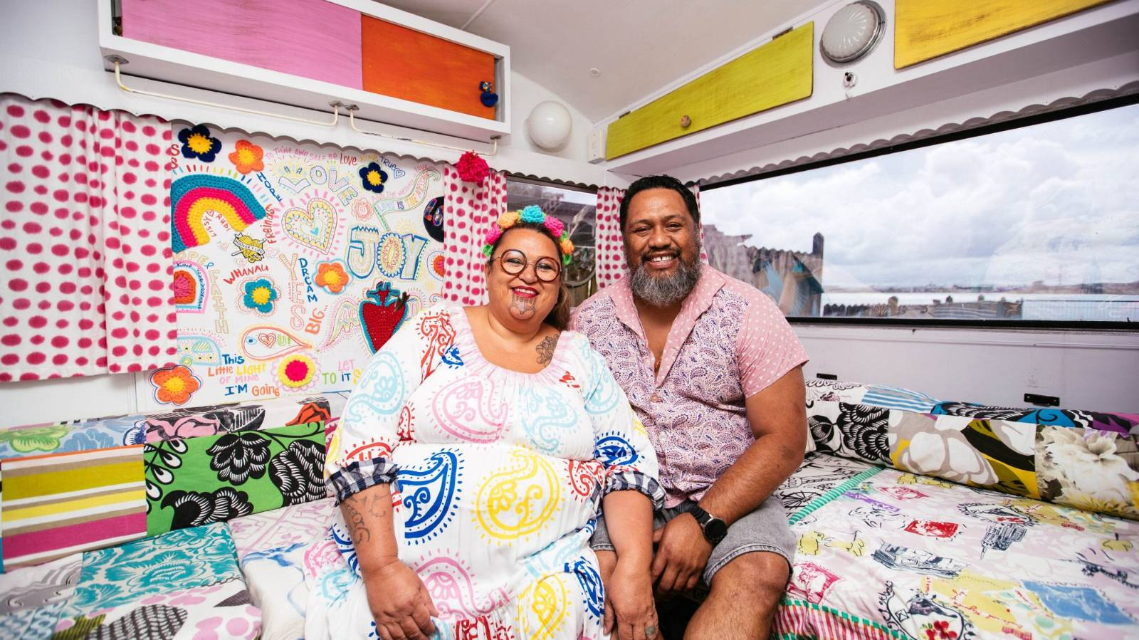 The couple building a house of joy from day-glo crochet
