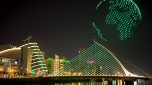 Watch: Spectacular drone light show for St Patrick's Day
