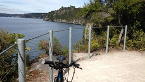 Riding the Great Lake Trail around Taupō