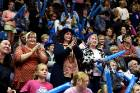 Southern Steel fans cheer on their team during their shock win over the Mainland Tactix.