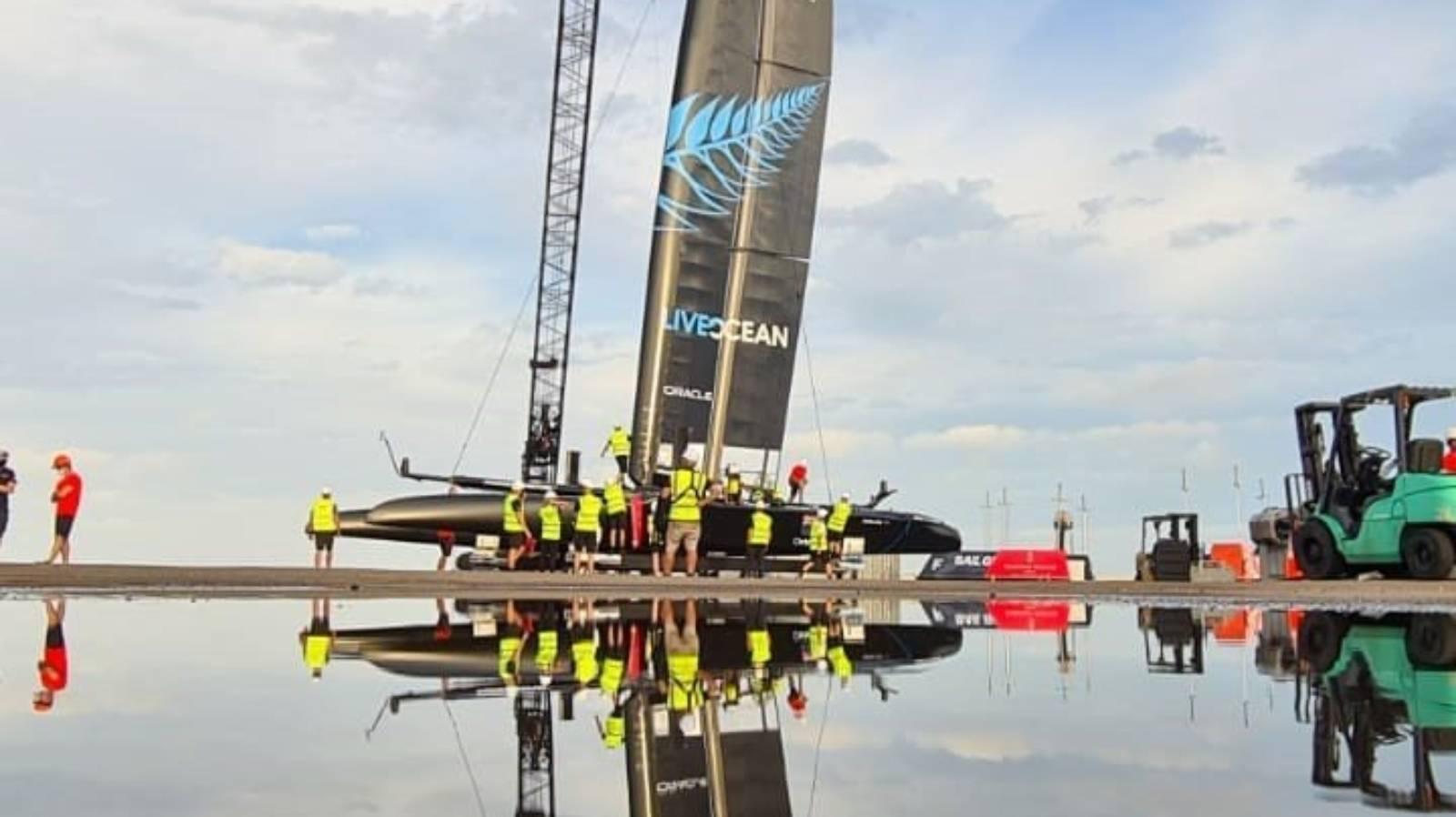 Burling and Tuke christen New Zealand's SailGP boat