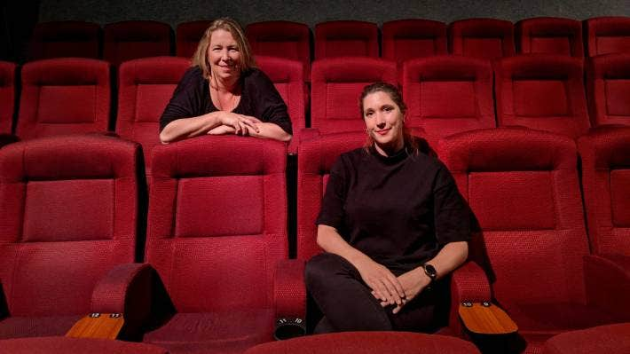 Erin Griffiths, left, and Madelien Scholten from Waikato Screen are working to get more of the region on screen.