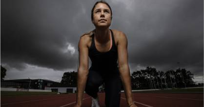 At 23, Zoe Hobbs jointly holds the national record for the women's 100m sprint.