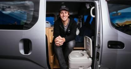 05052021 News Photo: Abigail Dougherty/Stuff. Andy Jones Director of VanLab in one of their Nissan NV200 vans thatÂ's ...