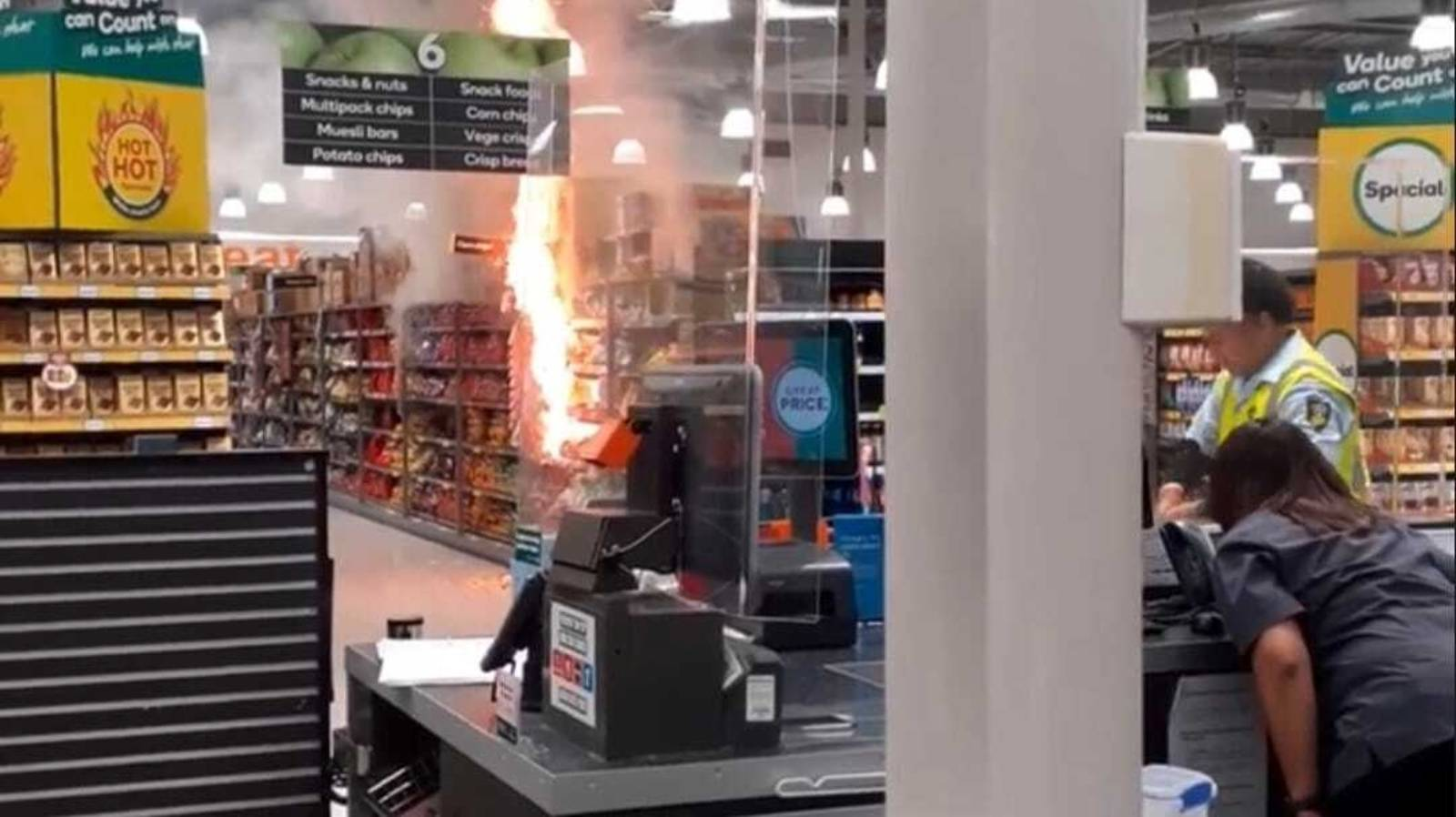 Teen charged with arson over snack aisle fire