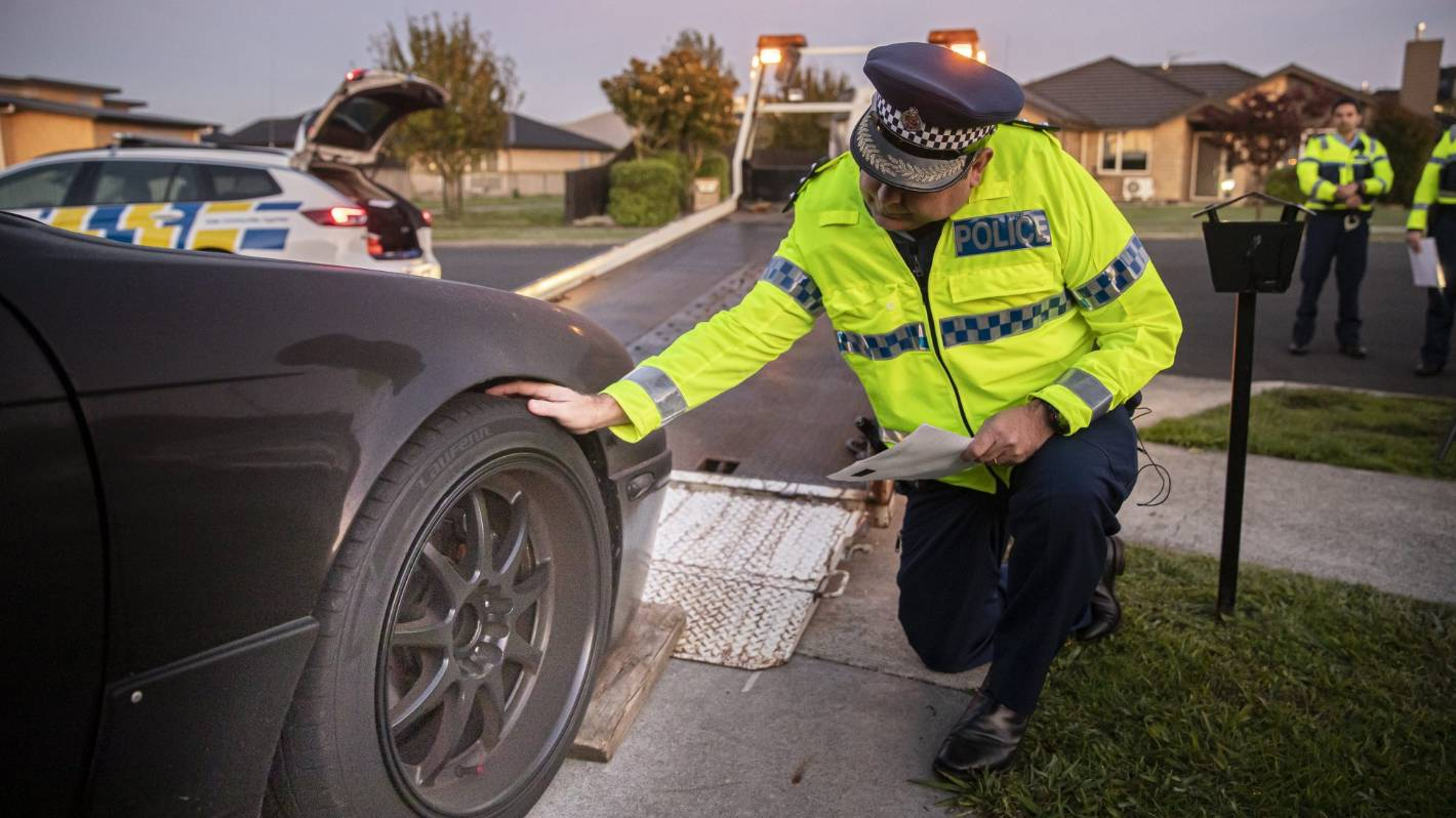 Early morning crackdown sees racers' rides become towies' prize