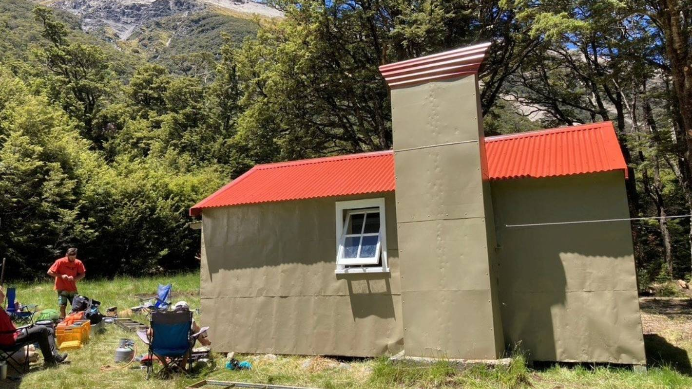 Rafting crew restore five remote South Island back country huts