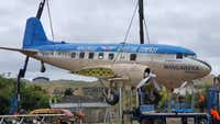 Town loses 'heart' after iconic plane removed for repairs