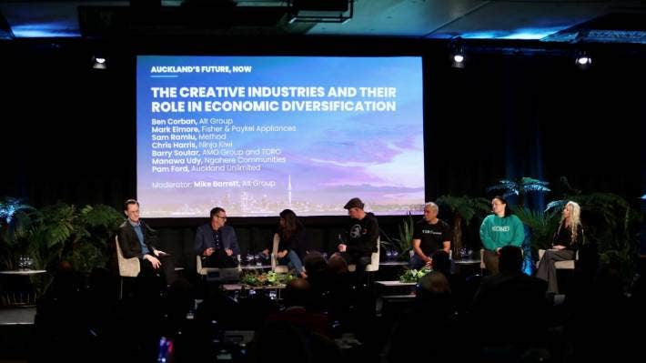 A creative industries talk at the Auckland's Future Now conference focused on support for the sector and building a community.