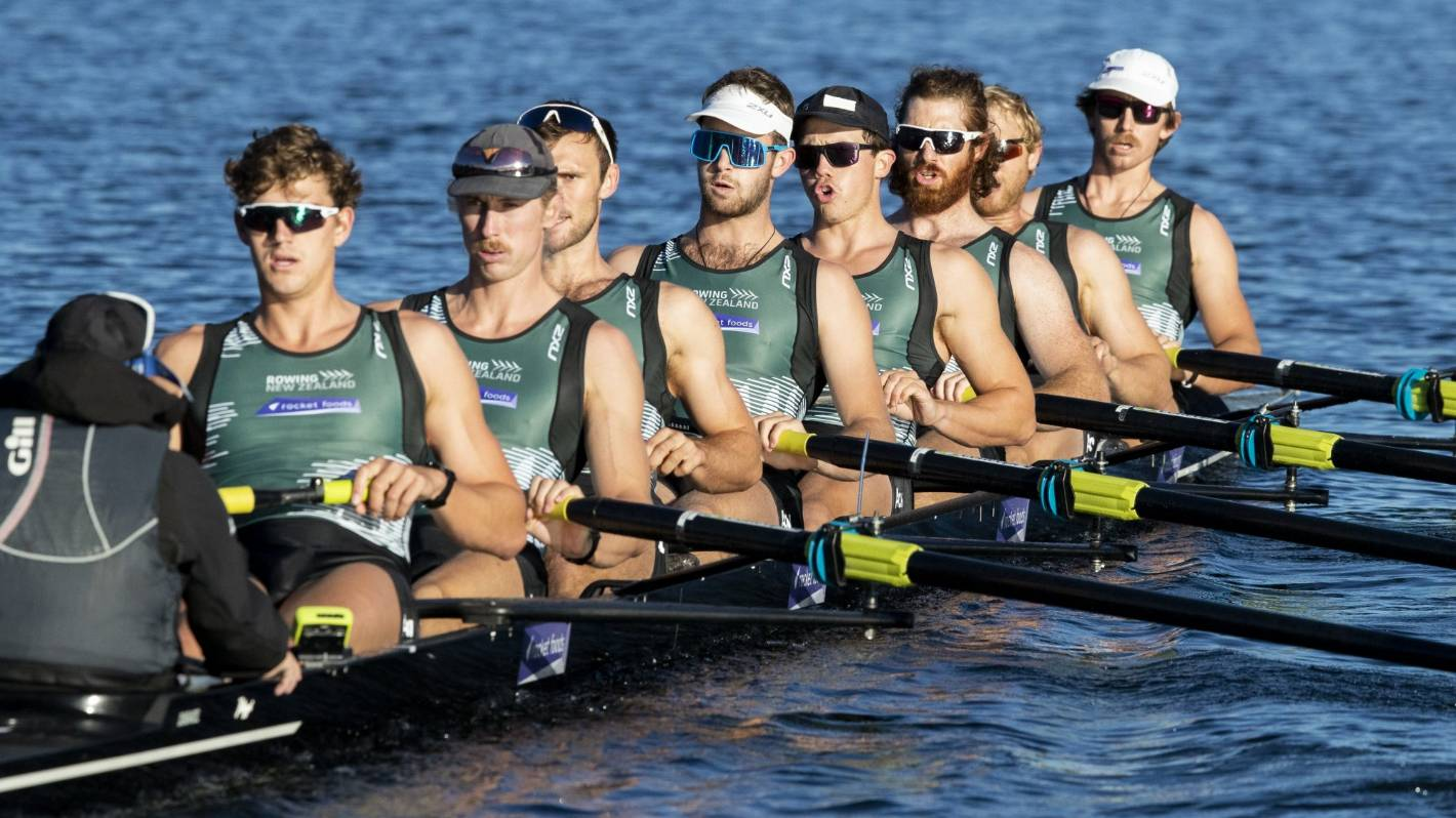New Zealand men's rowing eight close in on Olympic qualification in Lucerne