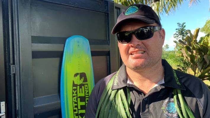 Graeme Jeffries of Stonefish Surf Shop is eager to welcome tourists again onto Aitutaki.