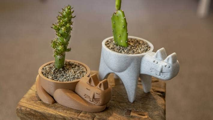 More than 67,000 products have sold on Choice in the past 10 months, such as these 3D printed planters made by Ivan Perez which are sold through a business he runs with wife Pamela who says New Zealanders are keen to support locally made goods.