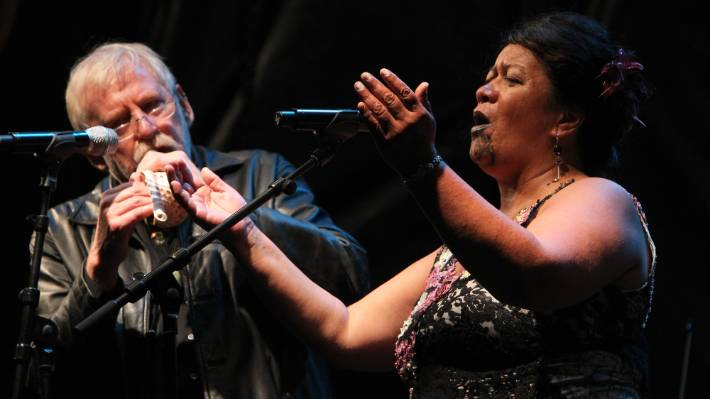Nunns and Whirimako Black perform in Nelson in 2012.