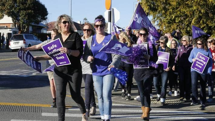 Wednesday's strike is taking place amid concerns about pay, conditions, and safe staffing.