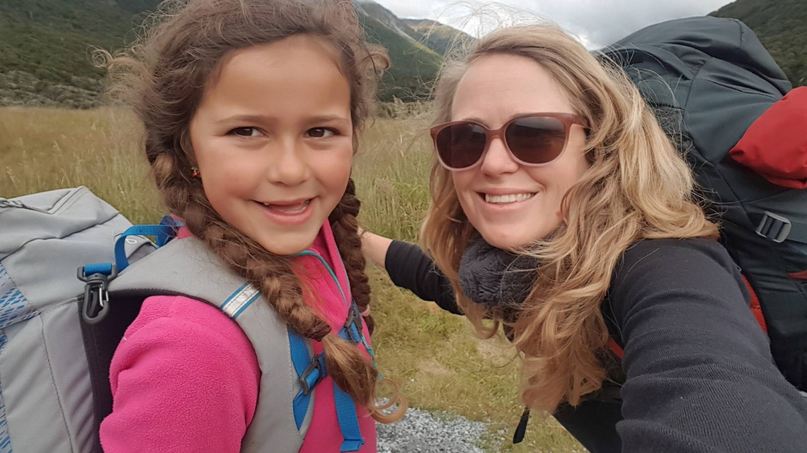 The solo mum finding solace on the trail with her seven-year-old