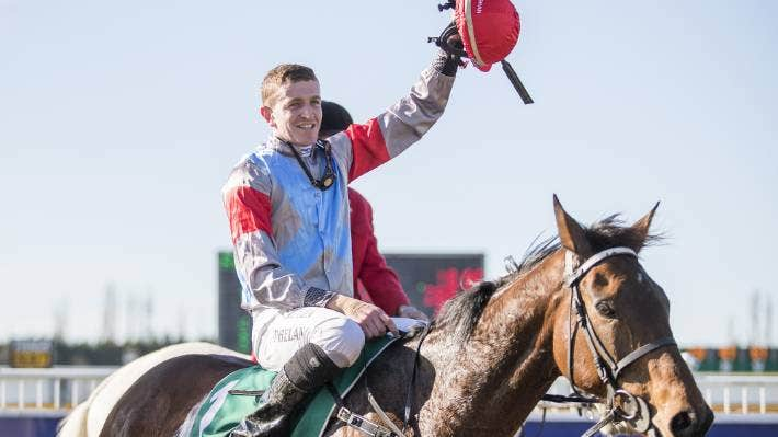 Shaun Phelan and Upper Cut, on which he won the Grand National Open Steeplechase during The Grand National Carnival week held at Riccarton Park in 2017. (File pic)
