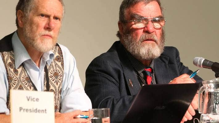 Peter Matcham (pictured left, alongside former Grey Power president Tom O'Connor) says the numbers of seniors seeking one-bedroom flats is causing major issues in the rental market.