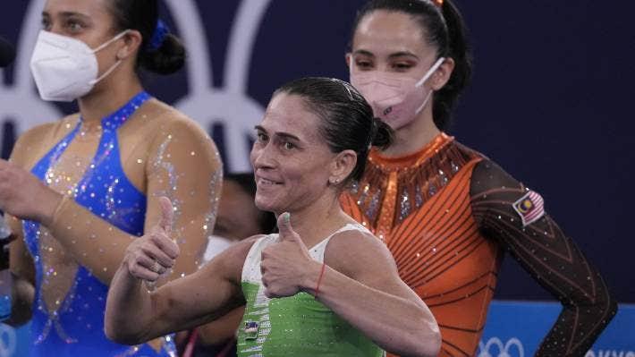Tokyo Olympics: Tears and ovation as 46-year-old gymnast Oksana Chusovitina ends eighth Games   Stuff.co.nz