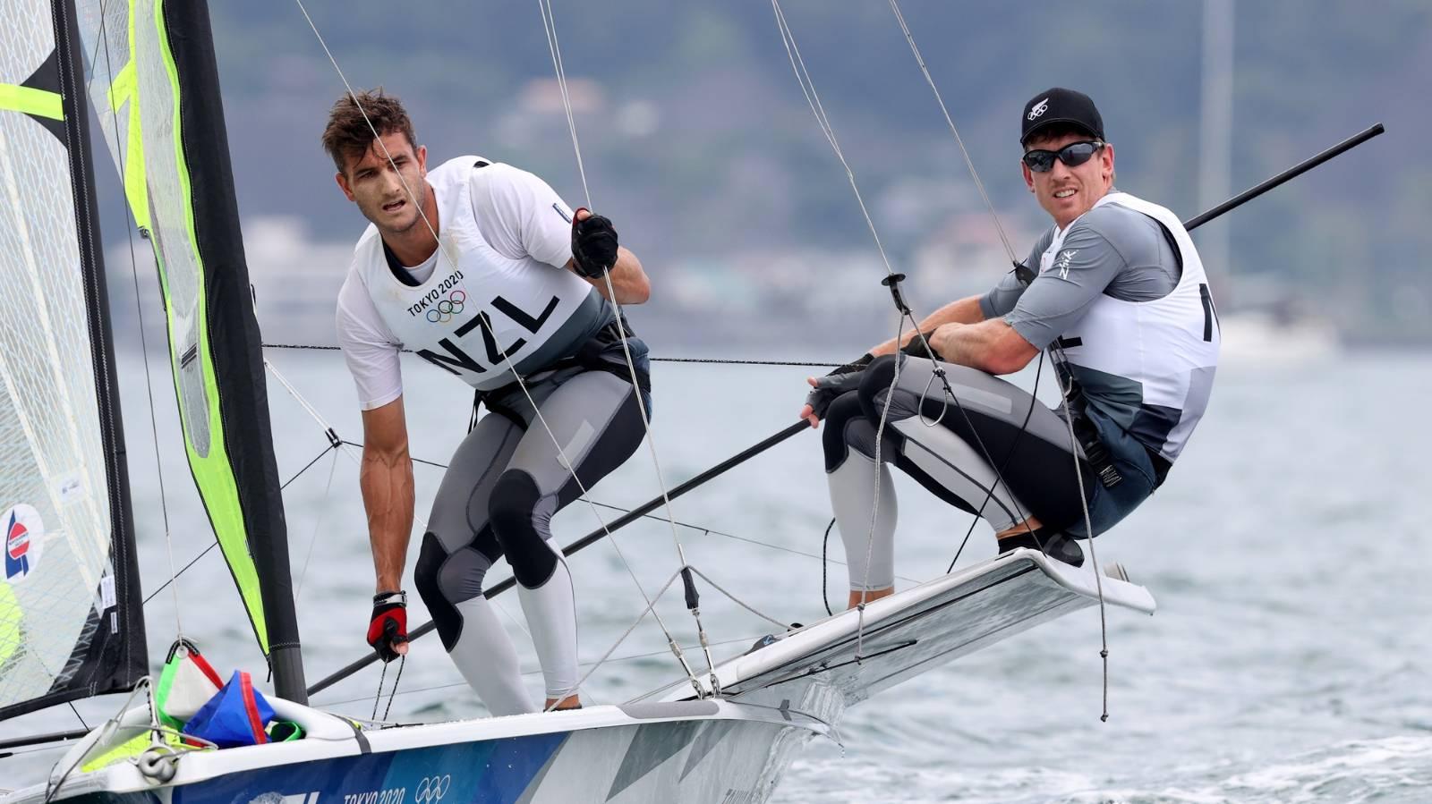 Burling, Tuke and Kiwi 470 crew charge into medal positions