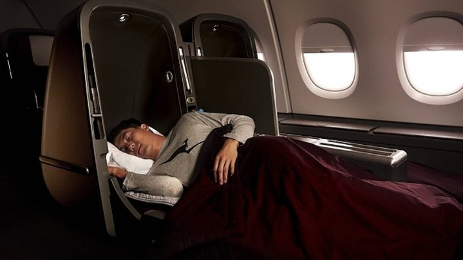 Qantas auctions off Airbus A380 business class seats