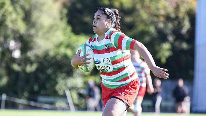 Danica Tavite, 21, a wing and fullback in Hutt Old Boys Marist's women's rugby team, has experienced concussion four times.