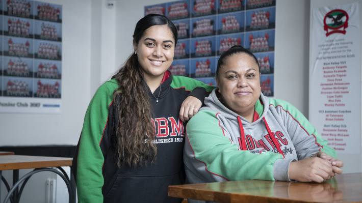 Danica Tavite, with mum Bernie Tavite. Both say Danica is still weathering the effects of her concussions.