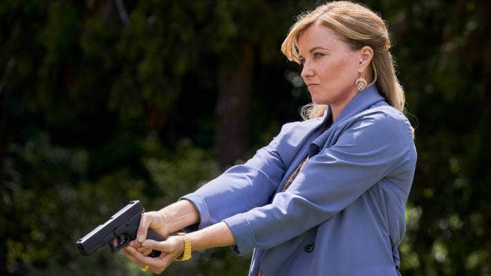 My Life is Murder follows former homicide detective Alexa Crowe – played by Kiwi actress Lucy Lawless.