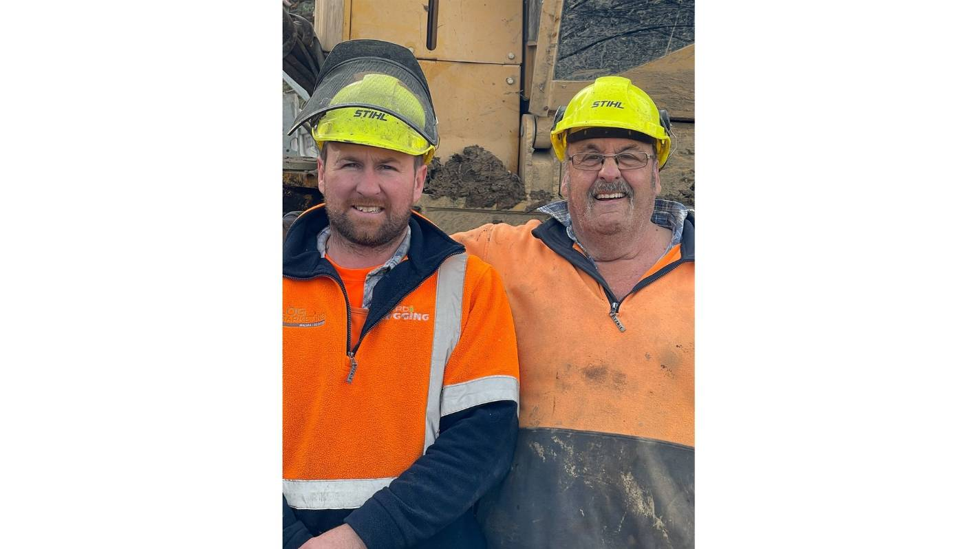 Otautau father and son graduate forestry course together