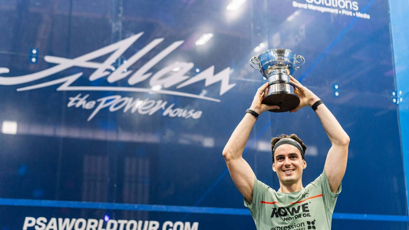 Paul Coll becomes first New Zealander to win the British Open men's squash title