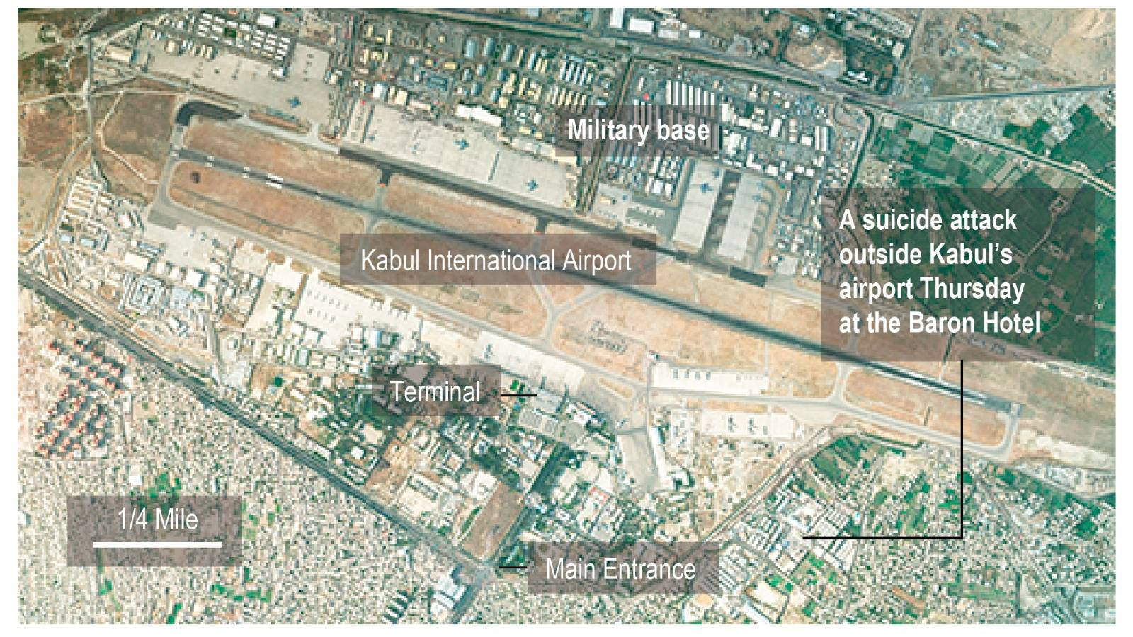 Kabul bombing: 60 civilians, 12 US service members killed