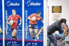 Tasman Mako rugby team members and staff get vaccinated at the their club rooms.