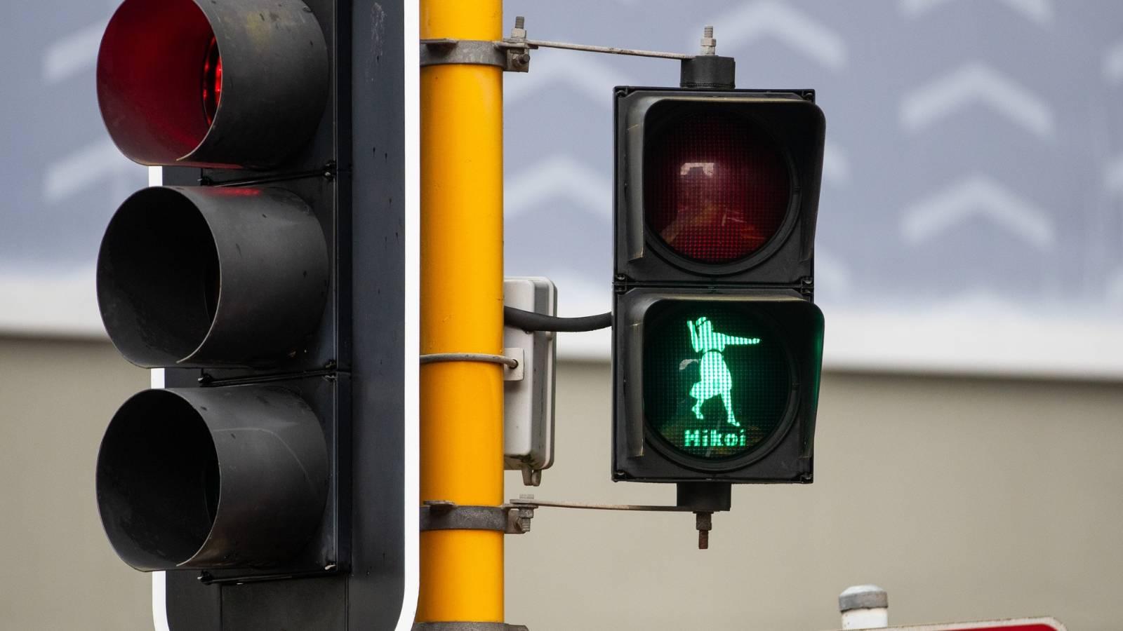 Pedestrian lights transformed to Māori figures