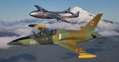 Taranaki pilots Brett Emeny in his Vampire jet and Peter Vause in his Russian L39 jet won the inaugural Wanaka jet race ...